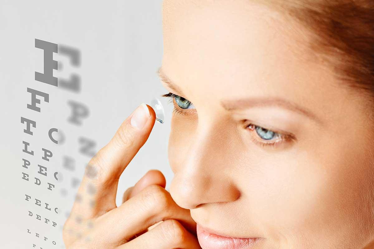 Auge und Ohr - Kontaktlinsen